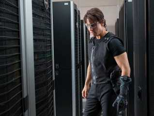 A movie still from Mission Impossible