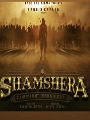Shamshera movie poster