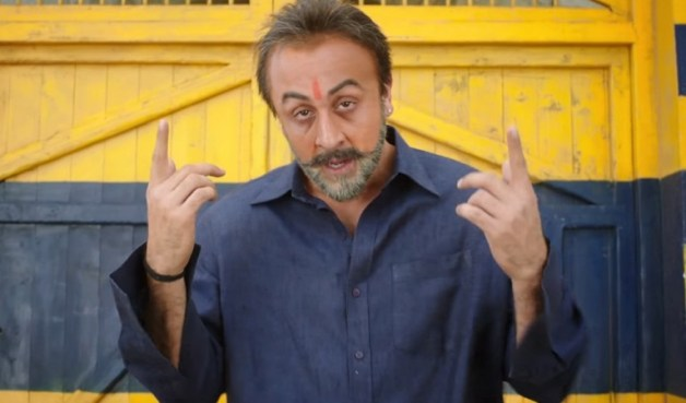 Ranbir Kapoor in the movie Sanju