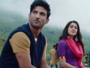 Sushant SIngh and Sara Ali Khan in Kedarnath