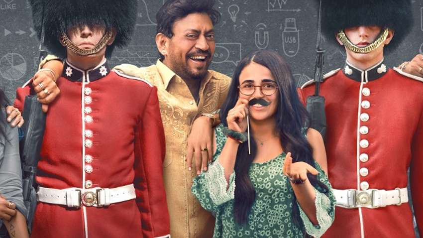 Irrfan Khan and Radhika Madan in the Movie Angrezi Medium