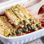 Vegan Spinach Ricotta Cannelloni