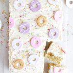 Vegan Party Ring Sheet Cake