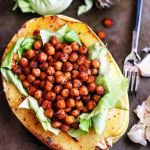 Roasted Spaghetti Squash & Spicy Paprika Chickpeas