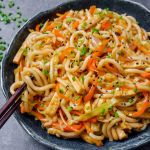 Sweet and Spicy Udon Noodle Stir-Fry