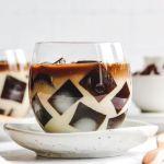 Vegan Japanese Coffee Jelly Dessert
