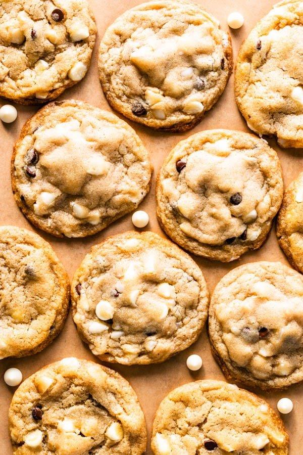 Vegan White Chocolate Macadamia Cookies by Pies & Tacos
