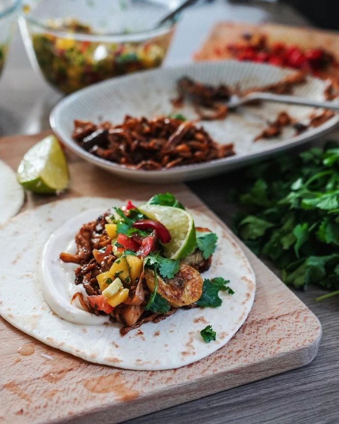 Vegan BBQ Jerk Tacos
