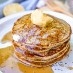 Gluten-Free Lemon Poppy Seed Pancakes from Angela's Plant-based Kitchen