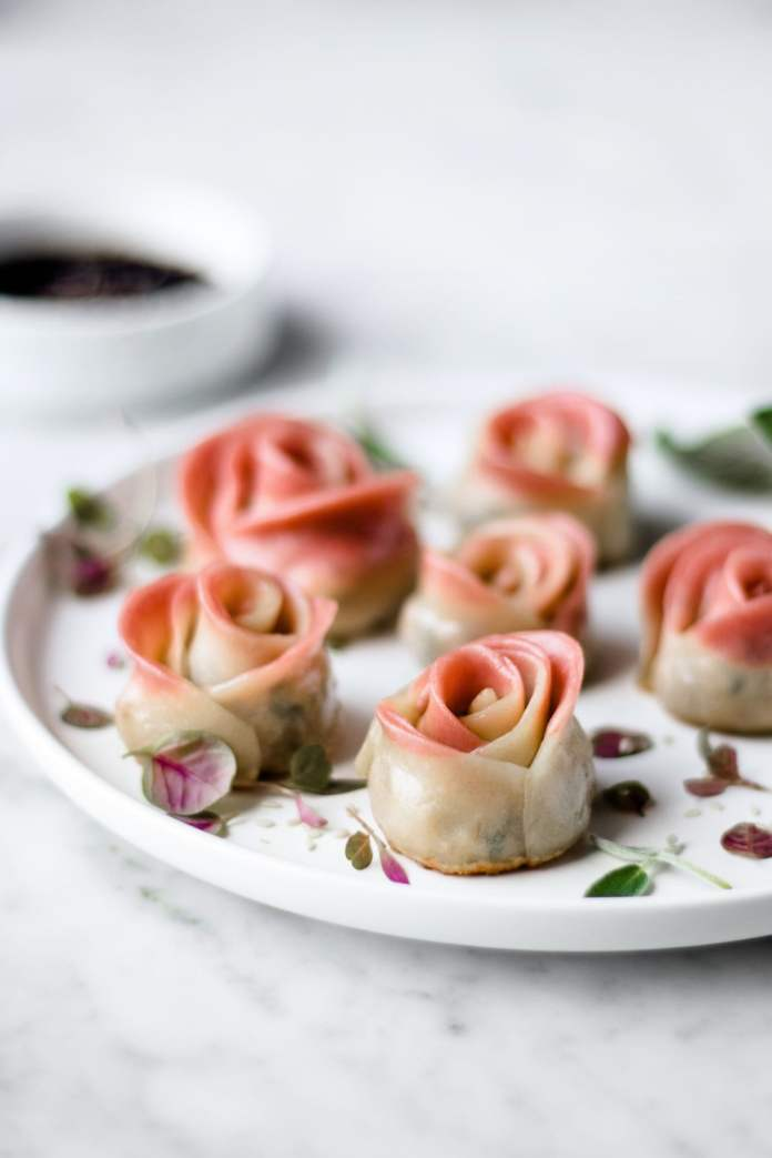 Vegan Valentine's Day recipes: Rose-shaped dumplings