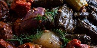 Vegan Kurdish Aprax / Dolma – Stuffed Vegetables with Herbed Aromatic Rice
