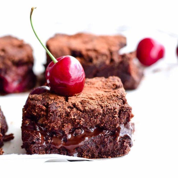 Vegan Black Forest Lava Brownies