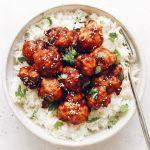 Sesame Miso BBQ Vegan Cauliflower Bites