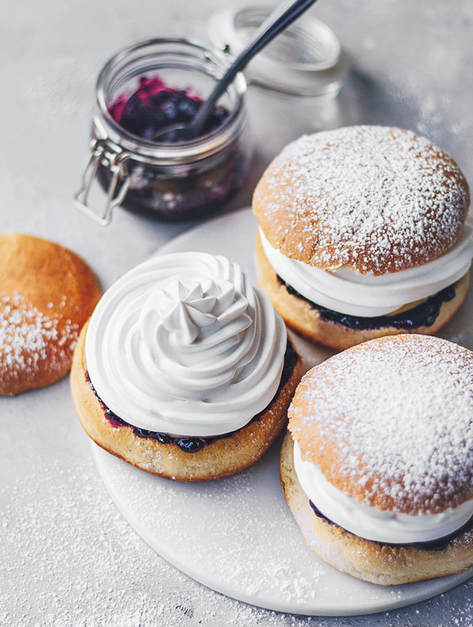 Blueberry Swedish Cream Buns by Miss Marzipan