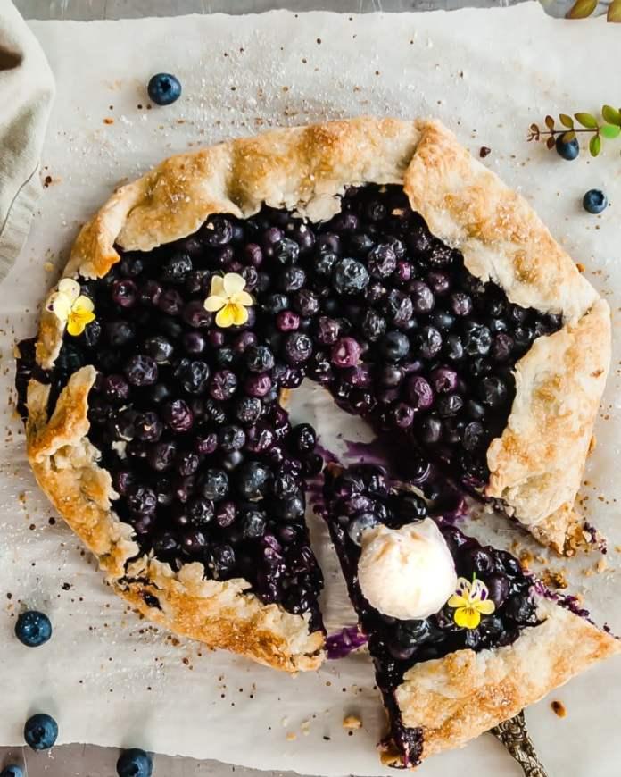 Vegan Blueberry Recipe: Vegan Blueberry Ginger Galette by Crums & Caramel