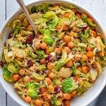 Chickpea & Brussels Vegan Caesar Salad