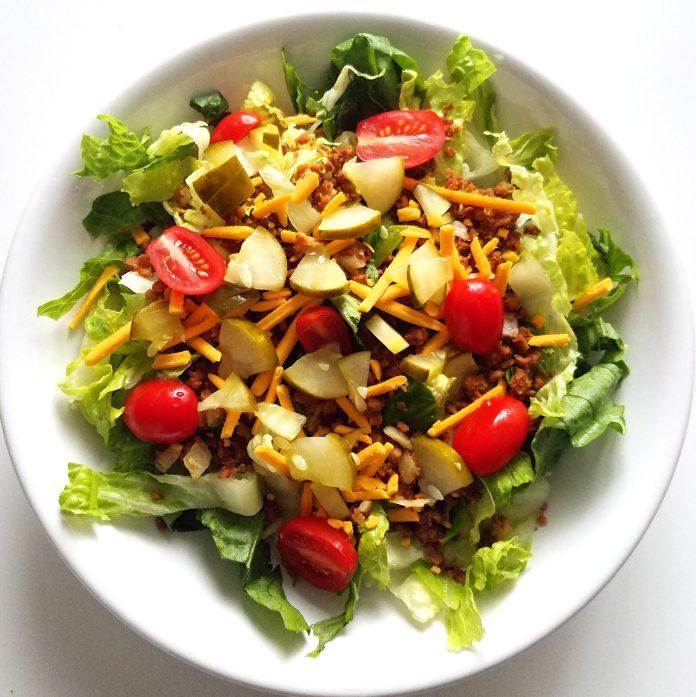 15+ Creative Vegan Cheeseburger-Inspired Recipes: Salad