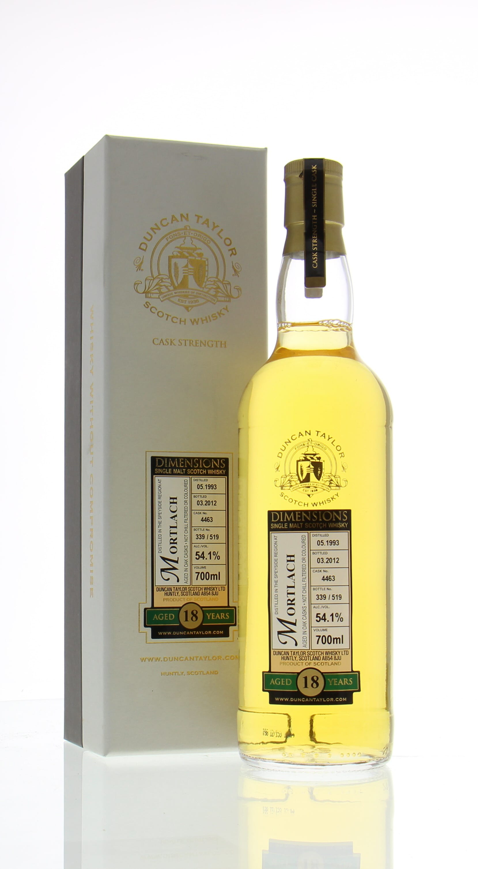 Mortlach 18 Years Old Duncan Taylor Dimensions Cask:4463 54.1% 1993 (0.7 l.); | Buy Online | Best of Wines
