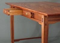 """""""Admiral's Desk"""" 60""""x31""""x29"""", mahogany, alder, cocobolo"""