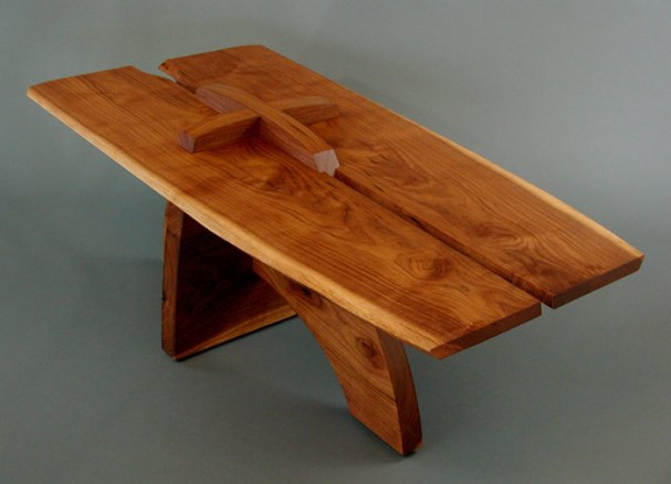 """""""Bookmatched Table"""" 43""""x22""""x19"""", walnut"""