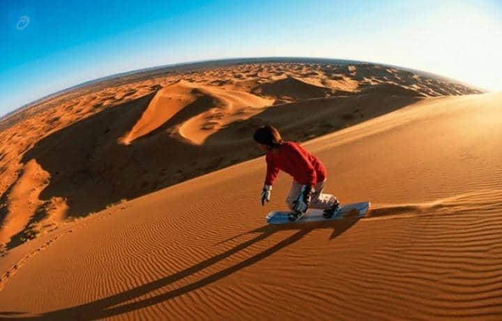 سفاري الصباح مع التزلج على الرمال بواسطة Arabian Expedition  رحلات سفاري صحراء دبي