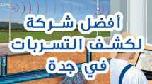 أفضل شركة لكشف التسربات في جدة