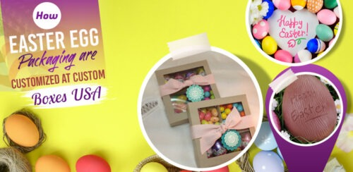 How can custom boxes be used as Easter egg packaging in the USA?