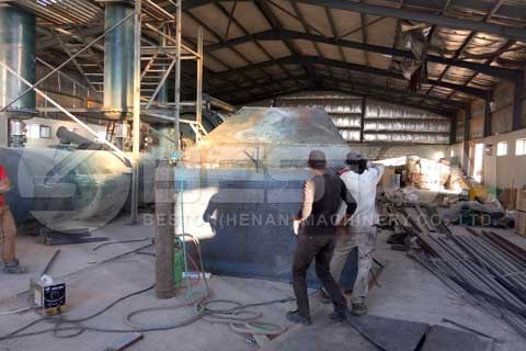 Tire Pyrolysis Plant in Jordan