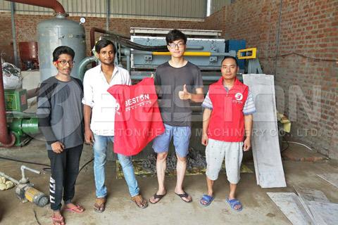 Good Feedback from Indian Customer - Pulp Egg Tray Making Machine