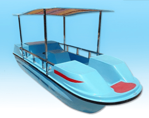 Amusement park water ride paddle boat with four seat