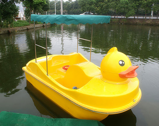 Amusement park yellow duck paddle boat for sale