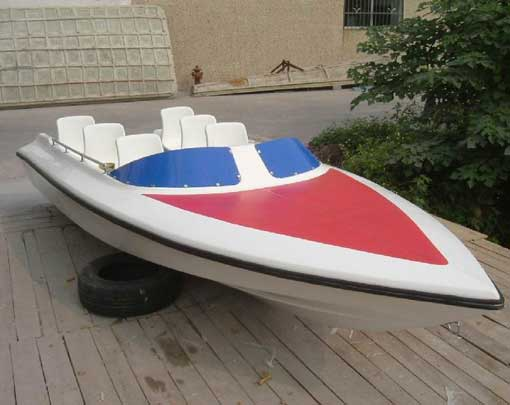 Small speed boat with 6 seat