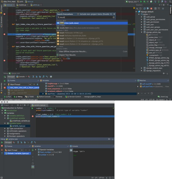 Pycharm ide for python