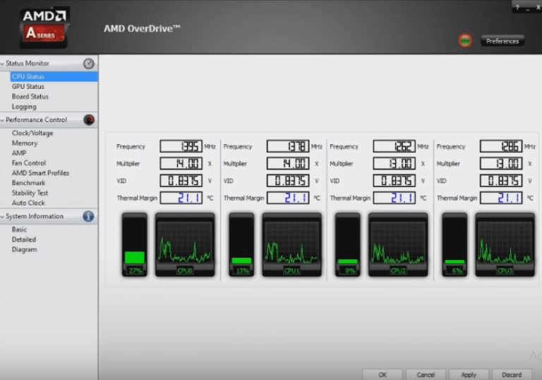 AMD OverDrive software