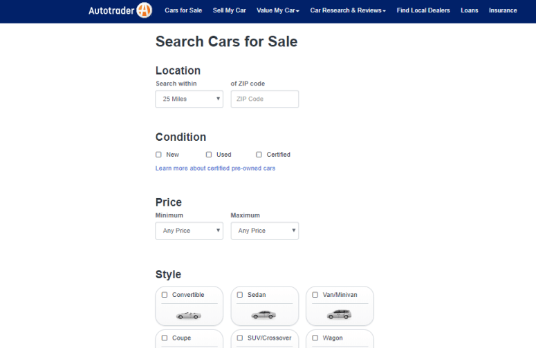 autotrader site for buying car online