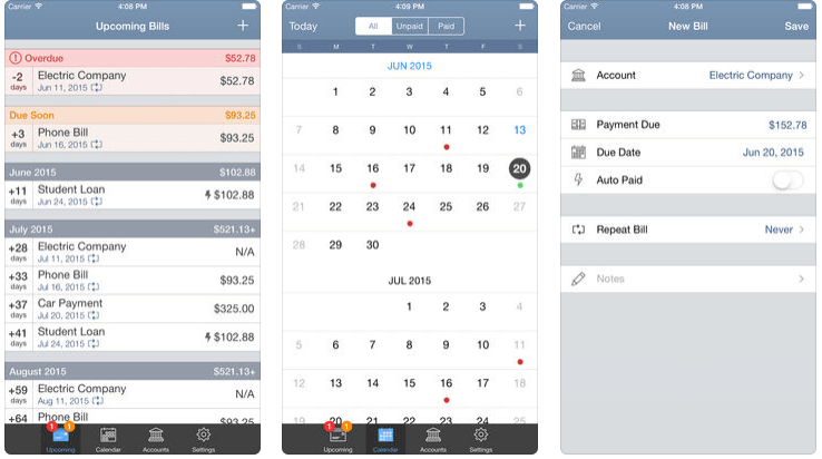 billtracker for iphone