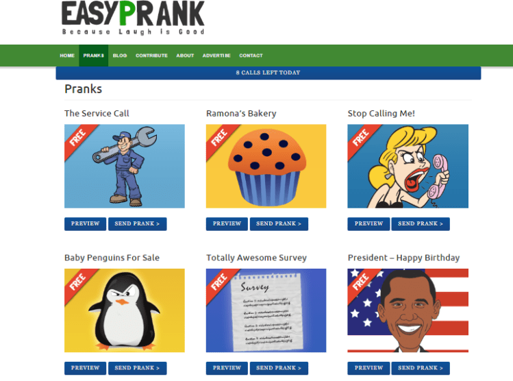 easyprank site for prank calls