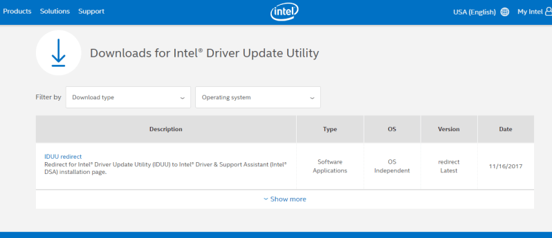 intel driver updater utility