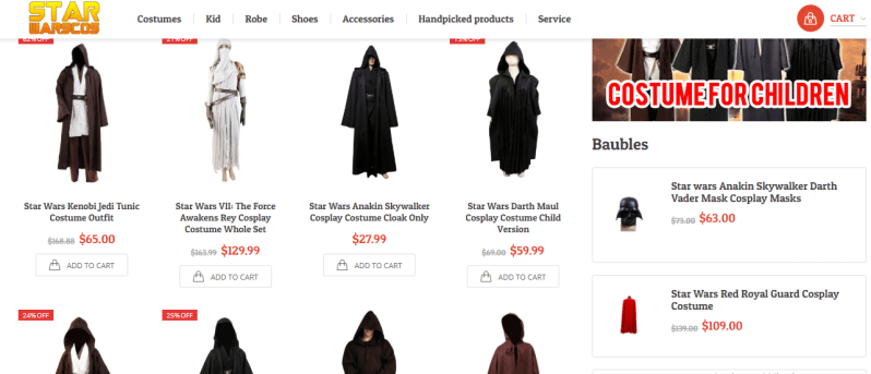 star wars cosplay site