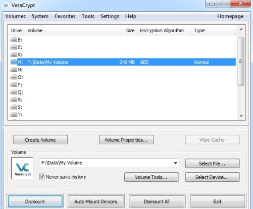 veracrypt software