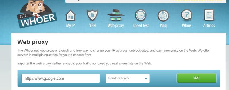 whoer.net proxy server