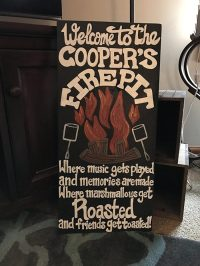 Amazing Wood/Metal Fire Pit Signs For Your Deck or Patio