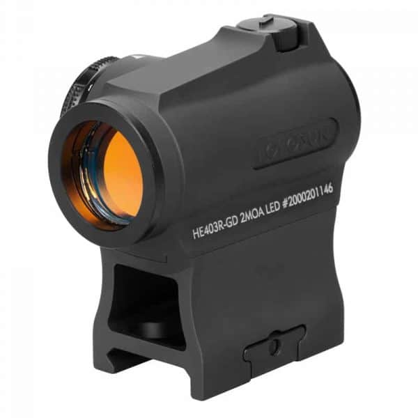 Holosun HE403R-GD Gold Dot / Circle Dot Micro Sight With Rotary Switch - Easy To Install And Operate