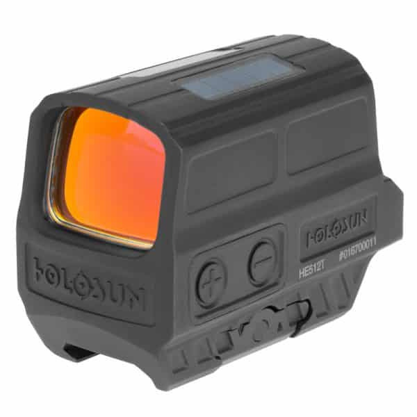 Holosun HE512T-RD Red Dot / Circle Dot Reflex Sight With Solar Panel And Titanium