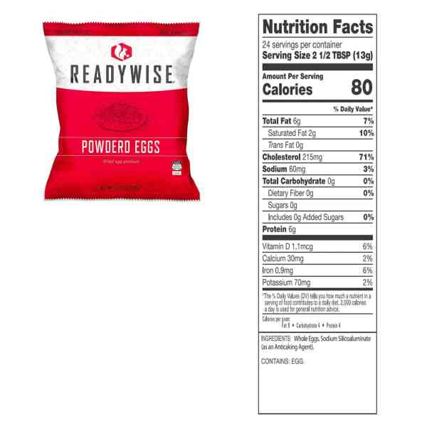 Powdered Eggs (In a Bucket)- 144 Total Servings