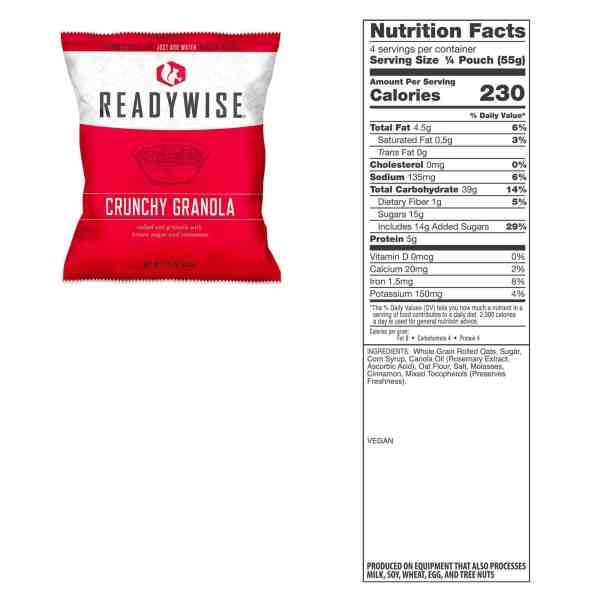 5 pouches of Crunchy Granola (20 Servings)