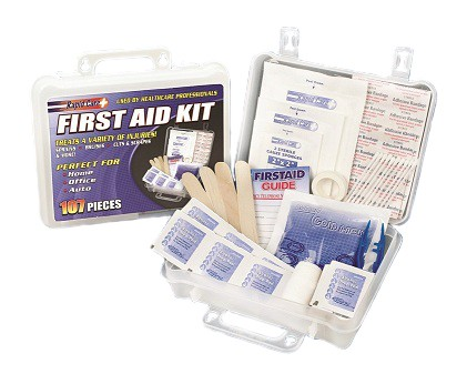 107 Piece First Aid Kit for survival grab and go