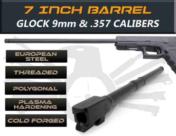 "Glock 24 .357 Sig caliber - 7.5"" Threaded Barrel"