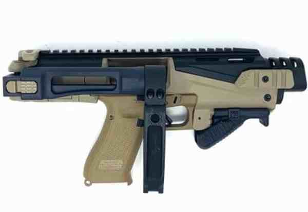 001BS-ZFI PDW Ultimate Truck Gun - NON NFA KPOS Scout with Tailhook adapter & folding angled foregrip w/ safety