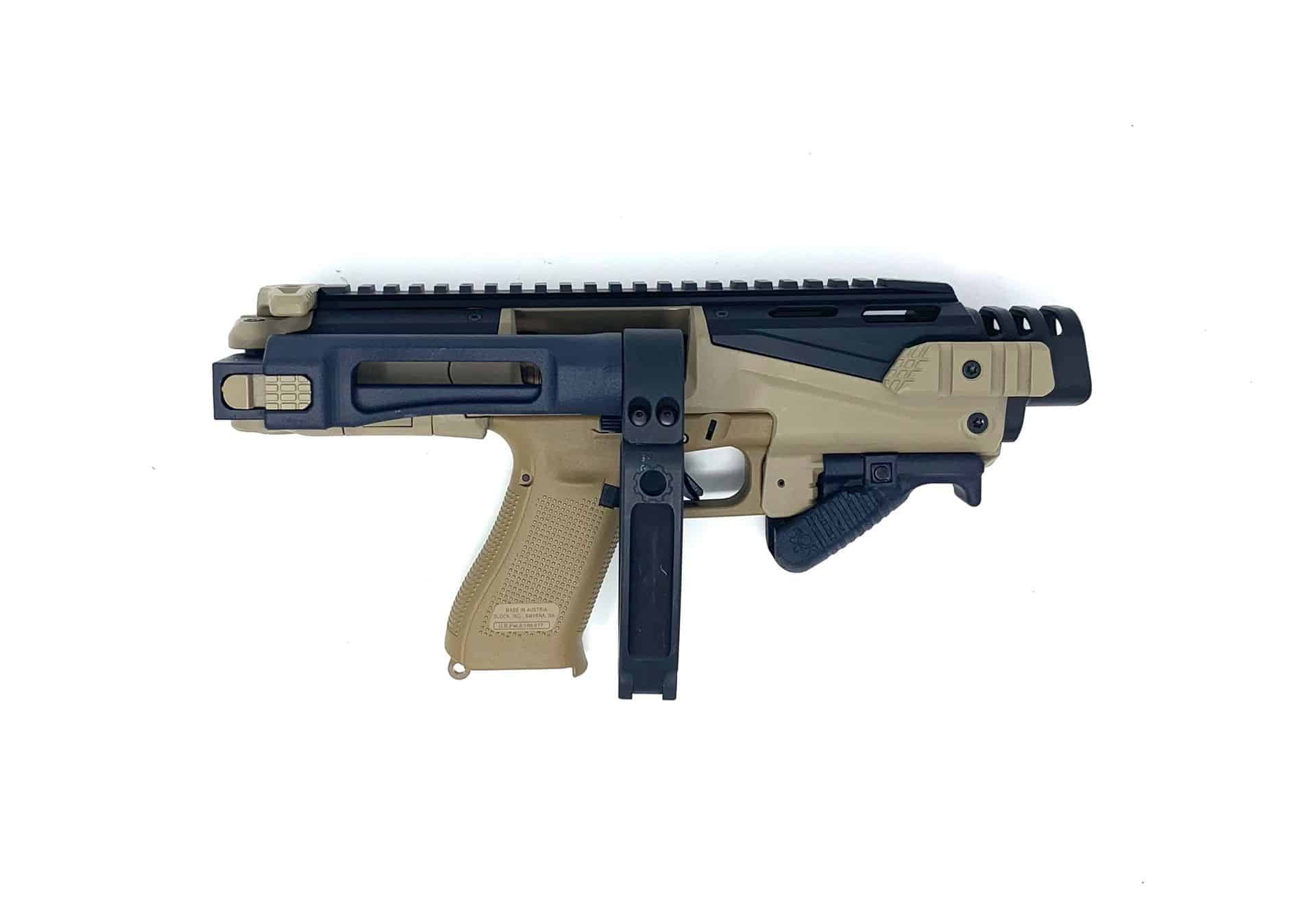 000BS-ZFI PDW Ultimate Truck Gun - NON NFA KPOS Scout with Tailhook & folding angled foregrip w/ safety